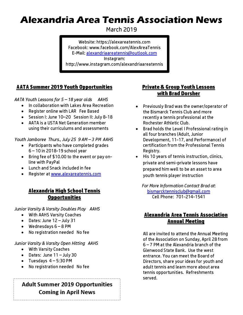 AATA March 2019 News