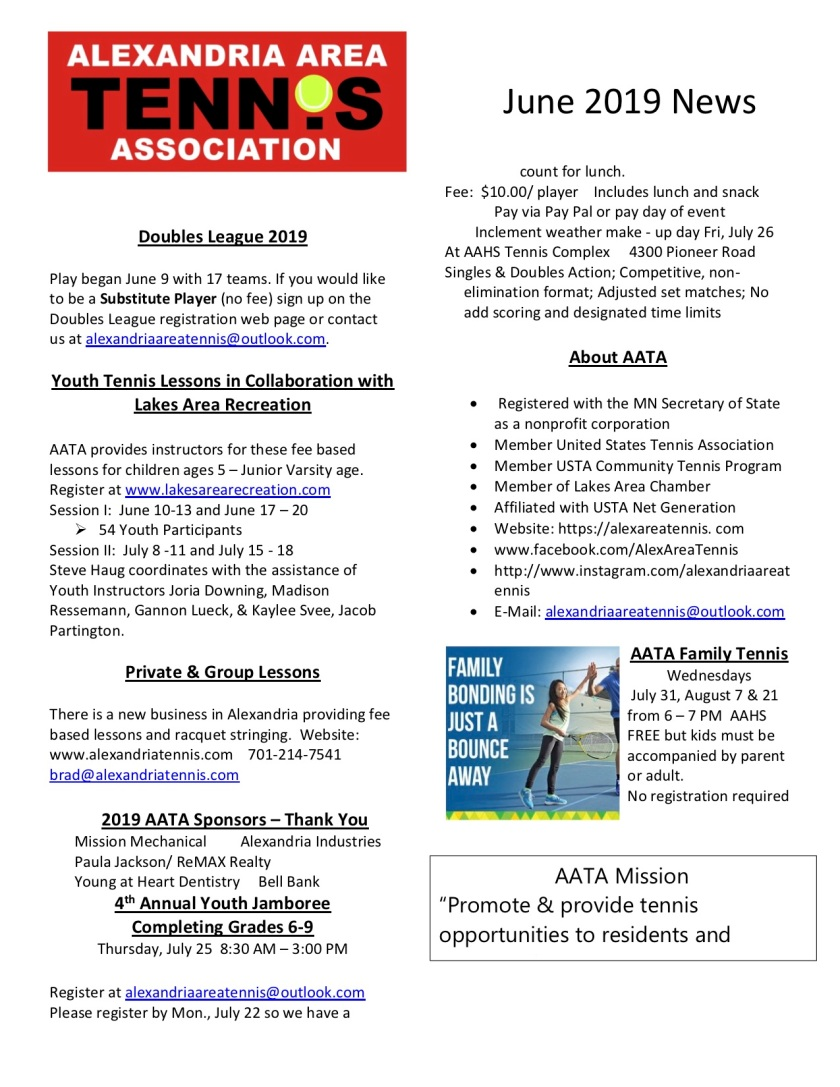 AATA June 2019 News
